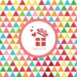 Coeur dans le boîte-cadeau pour la carte de valentine Photo libre de droits