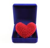 Coeur dans le cadre bleu Photographie stock