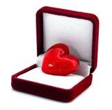 Coeur dans le cadre de cadeau Photos stock