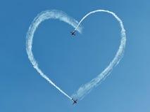Coeur dans le ciel Photographie stock libre de droits