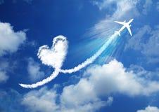 Coeur dans le concept d'amour de ciel Image libre de droits