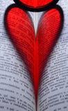 coeur dans le livre Images stock