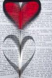 Coeur dans le livre Photos libres de droits