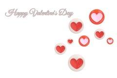Coeur dans le plat, jour heureux du ` s de Valentine illustration 3D illustration de vecteur