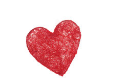 Coeur dans le réseau Photos stock