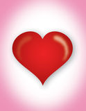 coeur dans le rose Images stock