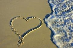 Coeur dans le sable Photo libre de droits