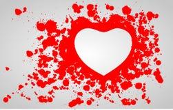 Coeur dans le sang Photos stock