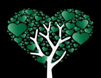 Coeur dans le vecteur d'arbre de coeur Photos stock