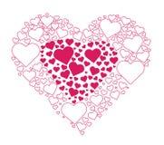 Coeur dans le vecteur de coeur Photographie stock libre de droits