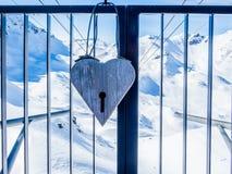 Coeur dans les Alpes suisses - 1 Photos stock