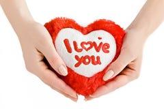 Coeur dans les mains. Image libre de droits