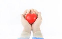 Coeur dans les mains Photo stock