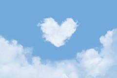 Coeur dans les nuages Image libre de droits