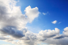 Coeur dans les nuages Photo stock