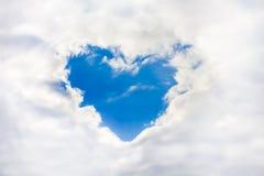 Coeur dans les nuages Ciel Photos libres de droits