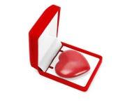 Coeur dans un cadre de cadeau Photo libre de droits