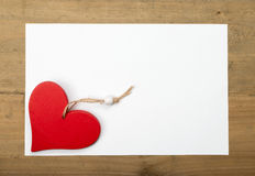 Coeur dans un cadre de tableau Photos libres de droits