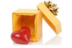 Coeur dans une boîte Photographie stock libre de droits