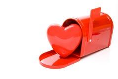 Coeur dans une boîte aux lettres Image libre de droits
