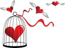Coeur dans une cage illustration libre de droits