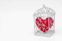 Coeur dans une cage Photos stock