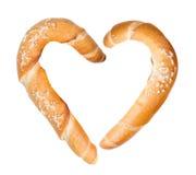 Coeur de baguette Photo stock