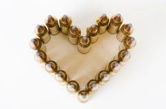 Coeur de balle d'en haut Images libres de droits