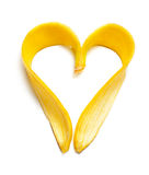 Coeur de banane Photos stock