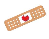 Coeur de bandage Photographie stock