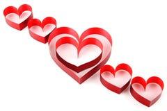 Coeur de bande rouge Images libres de droits