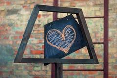 Coeur de beauté Vintage et moderne lumineux (contemporain) au même arrière-plan de temps Photo libre de droits