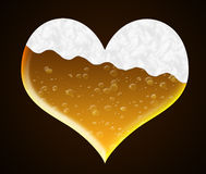 Coeur de bière Photos stock