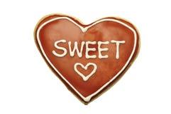 Coeur de biscuit, doux Image libre de droits