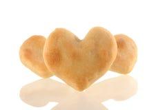 Coeur de biscuits avec la réflexion. Image stock