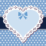 Coeur de bleu de lacet Photos libres de droits