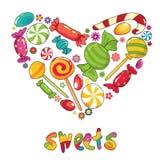 Coeur de bonbons Photos libres de droits