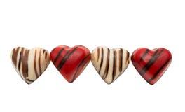 coeur de bonbons au chocolat d'isolement Image stock