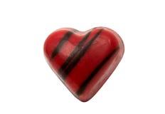 coeur de bonbons au chocolat d'isolement Images libres de droits