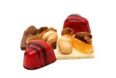 coeur de bonbons au chocolat d'isolement Photo libre de droits