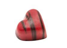 coeur de bonbons au chocolat d'isolement Photos libres de droits