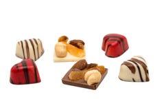 coeur de bonbons au chocolat d'isolement Photographie stock