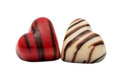 coeur de bonbons au chocolat d'isolement Photo stock