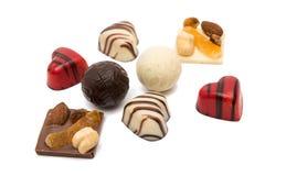 coeur de bonbons au chocolat d'isolement Image libre de droits