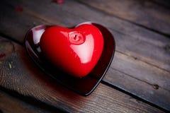 Coeur de bougie Photographie stock
