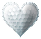 Coeur de boule de golf d'amour Photos libres de droits
