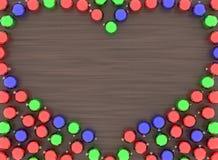 Coeur de boules de Noël Image libre de droits