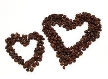 Coeur de café Images libres de droits