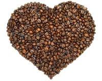 Coeur de café Image libre de droits