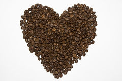 Coeur de café Image stock
